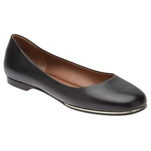 Givenchy Black Leather Ballet Flats Size 7/37